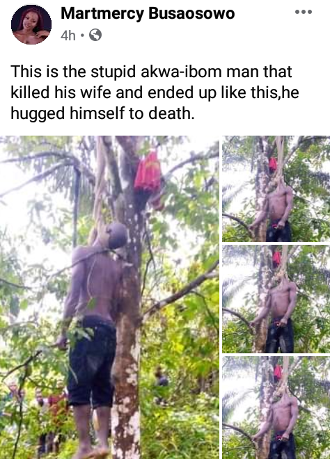 Graphic: Akwa Ibom man commits suicide after killing his wife over alleged infidelity