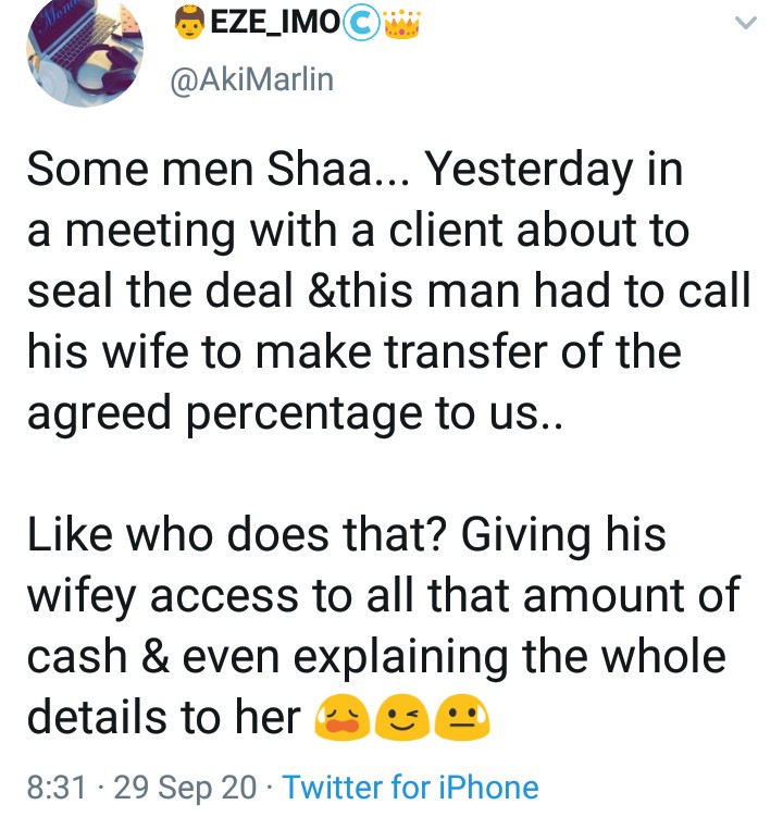 Man is slammed for criticizing his client who trusts his wife with all his finances