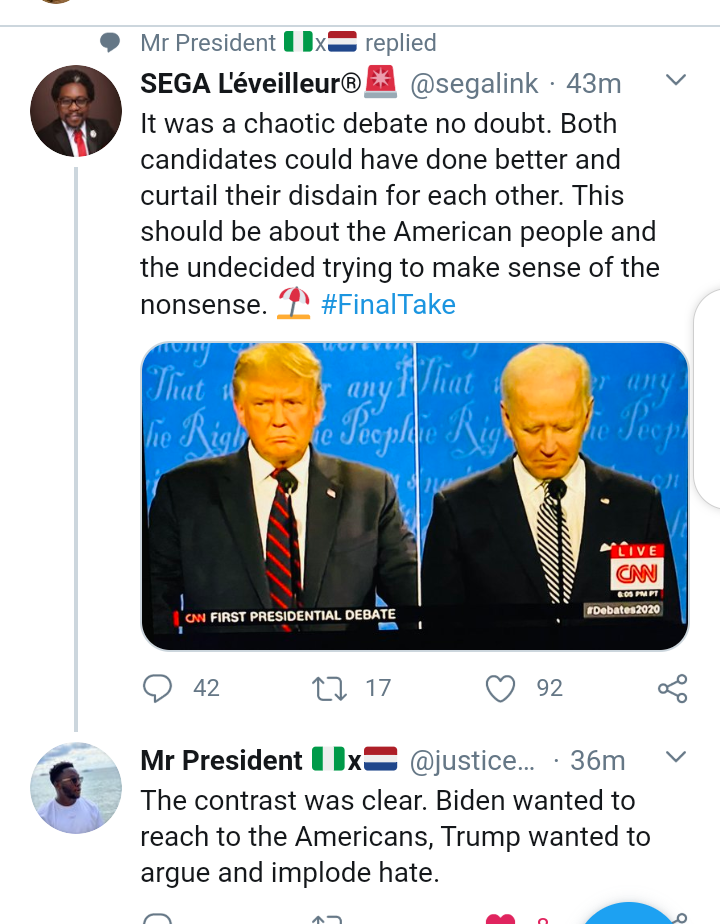 #Debates2020: Social media reacts after Trump and Joe Biden engage in chaotic and messy presidential debate