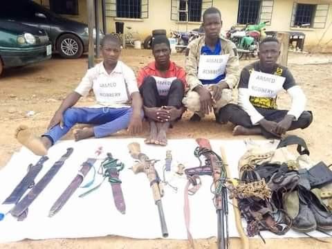 Police parade seven-man gang of dare-devil robbers terrorising Adamawa communities