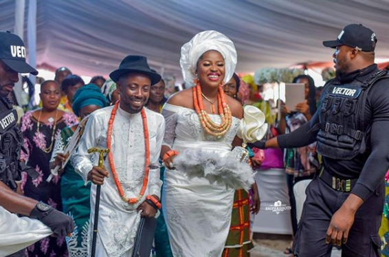 Rapper Erigga and fiancee, Morenike hold their traditional marriage in Delta state (photos)