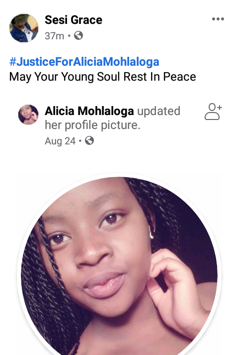 16-year-old girl shot dead by a police officer in South Africa
