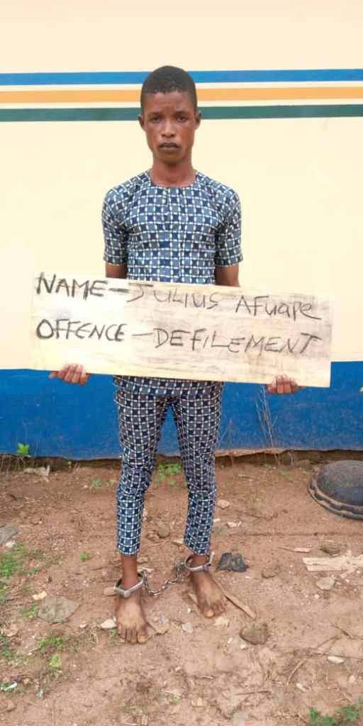 Man, 21, arrested for allegedly defiling 13-year-old girl in Ogun (photo)