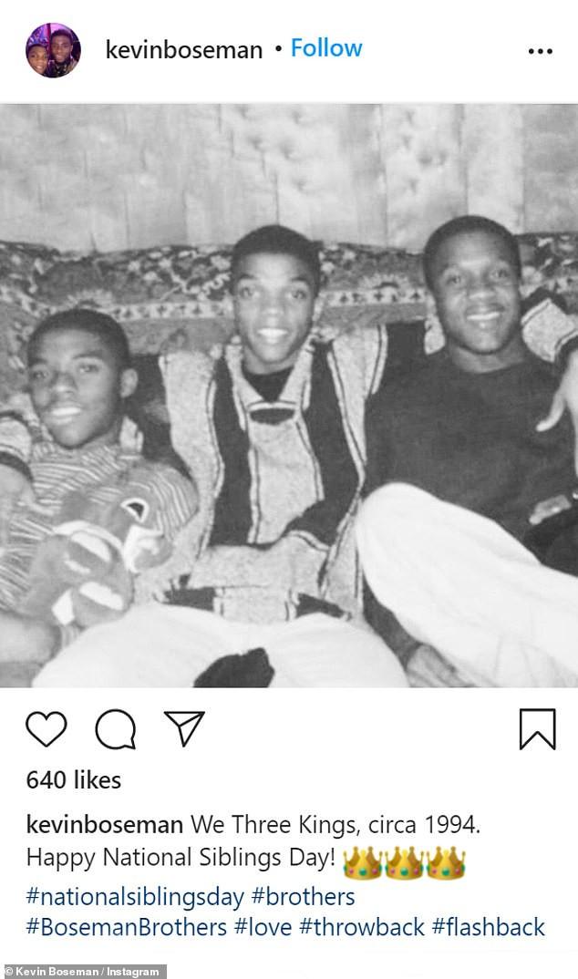 Chadwick Boseman and brothers