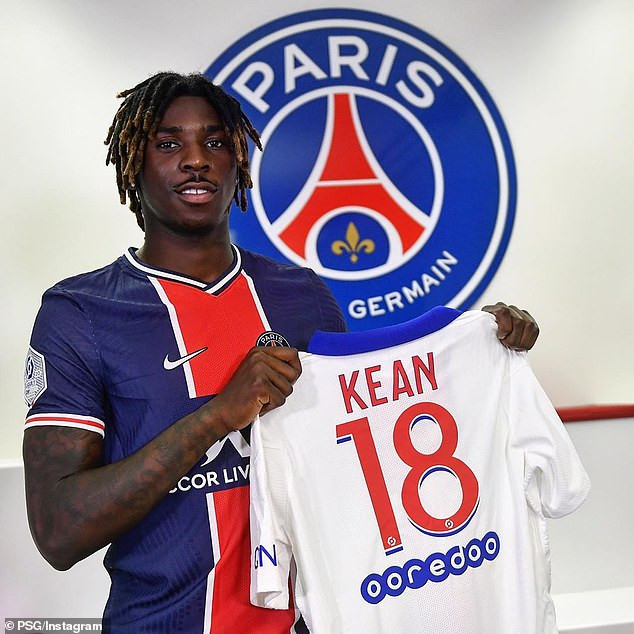 Moise Kean joins Paris Saint-Germain on a season-long loan from Everton?