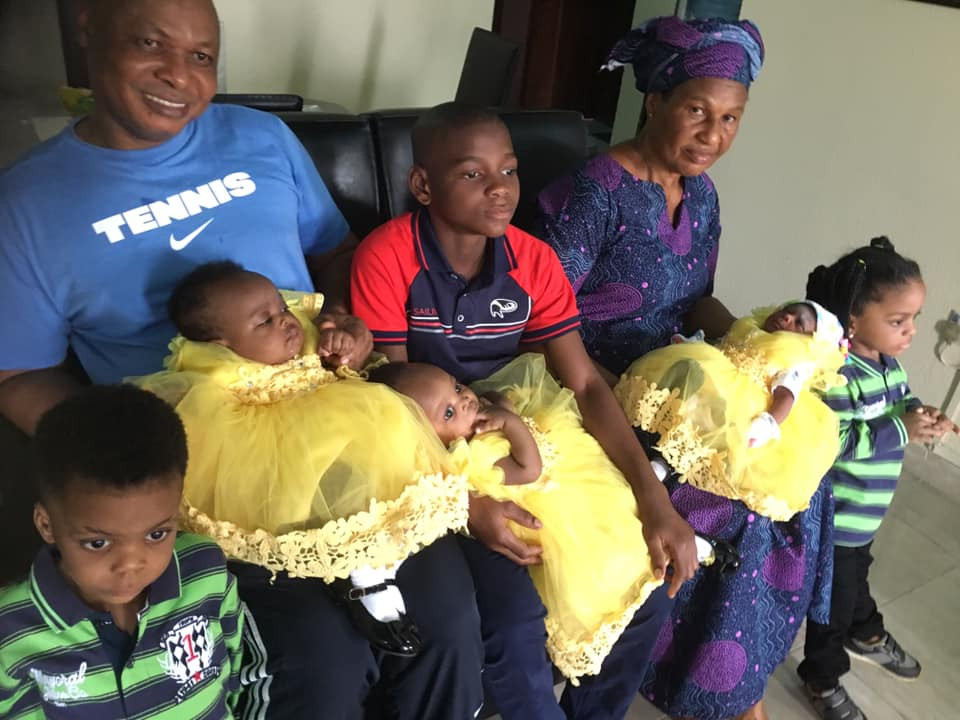 Nigerian woman delivers a baby girl five months after giving birth to a set of twins