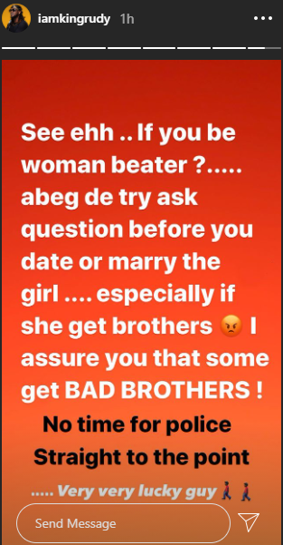 Paul Okoye has a message for women beaters