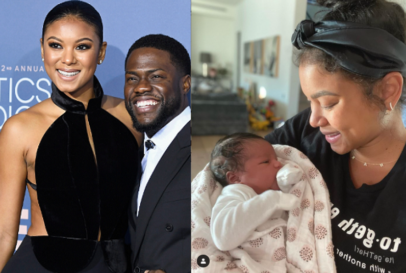 Kevin Hart and wife Eniko Hart share first photo of their newborn daughter