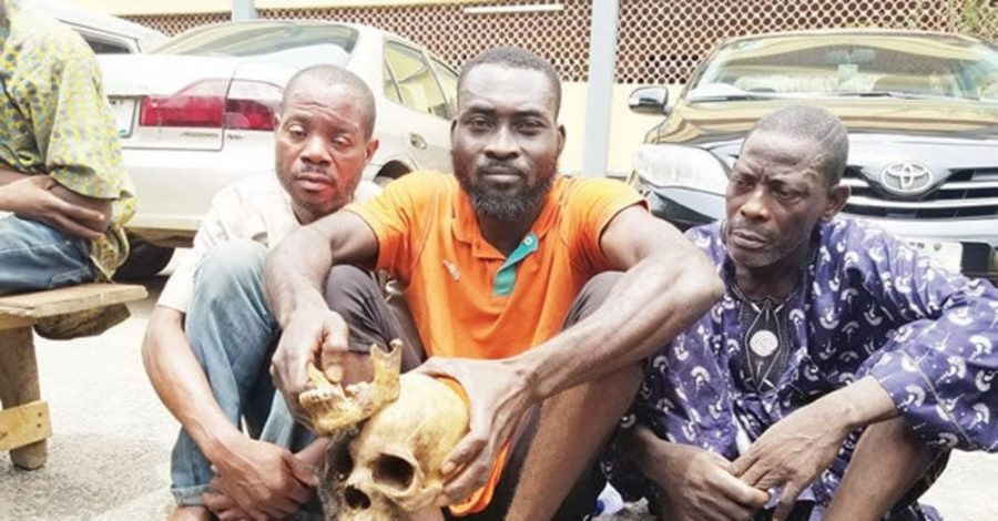 Three men arrested and arraigned for exhuming 10 corpses and beheading them for ritual