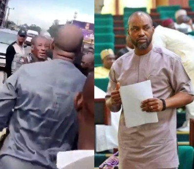 "House of Reps member, Obinna Chidoka, clashes with police officers who allegedly brutalized a man for ""splashing water on their driver"" in Anambra (video)"