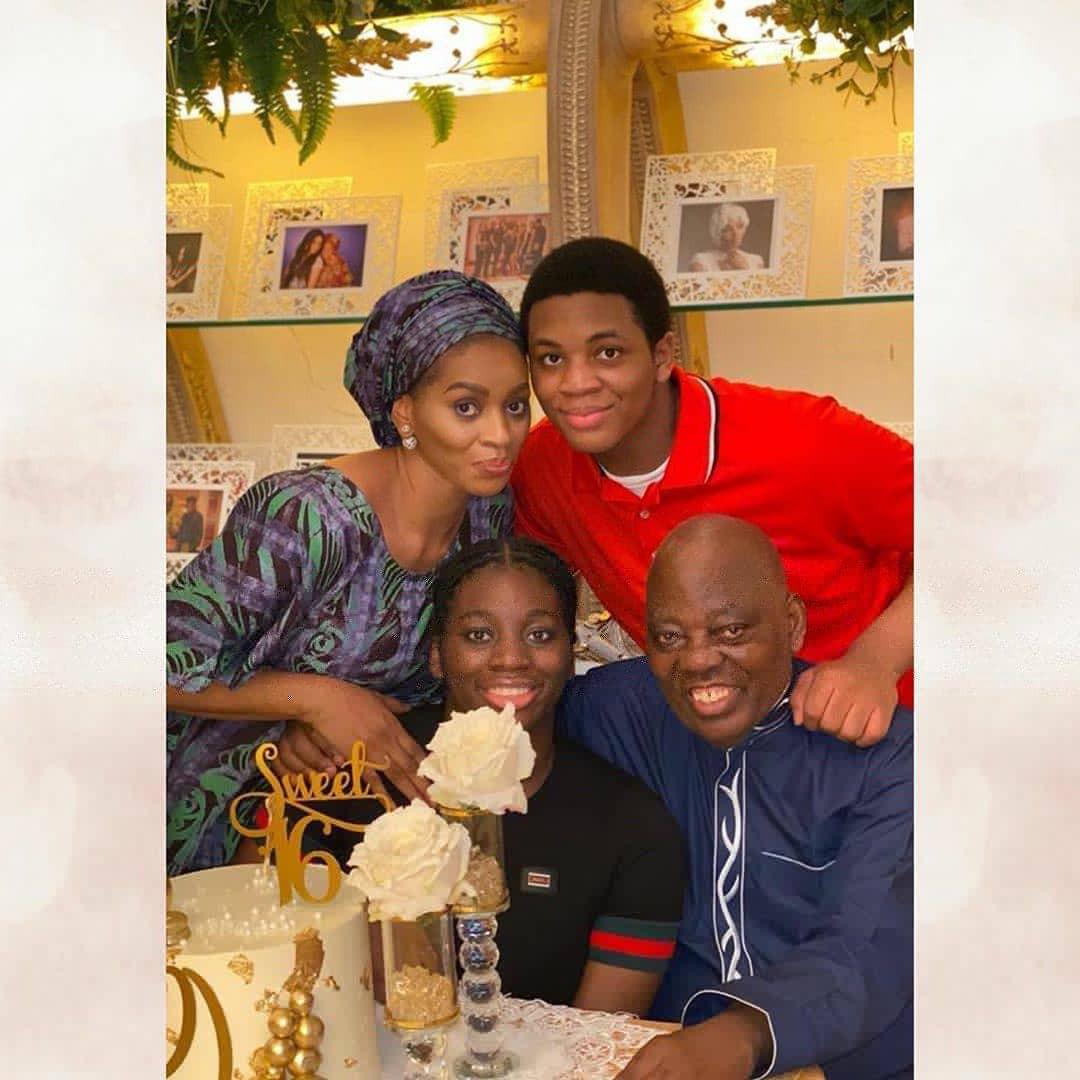 Shade and Rasaq Okoya celebrate their daughter who turned 16 (photos)