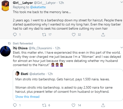 Nigerian women reveal barbers require consent letters from a woman