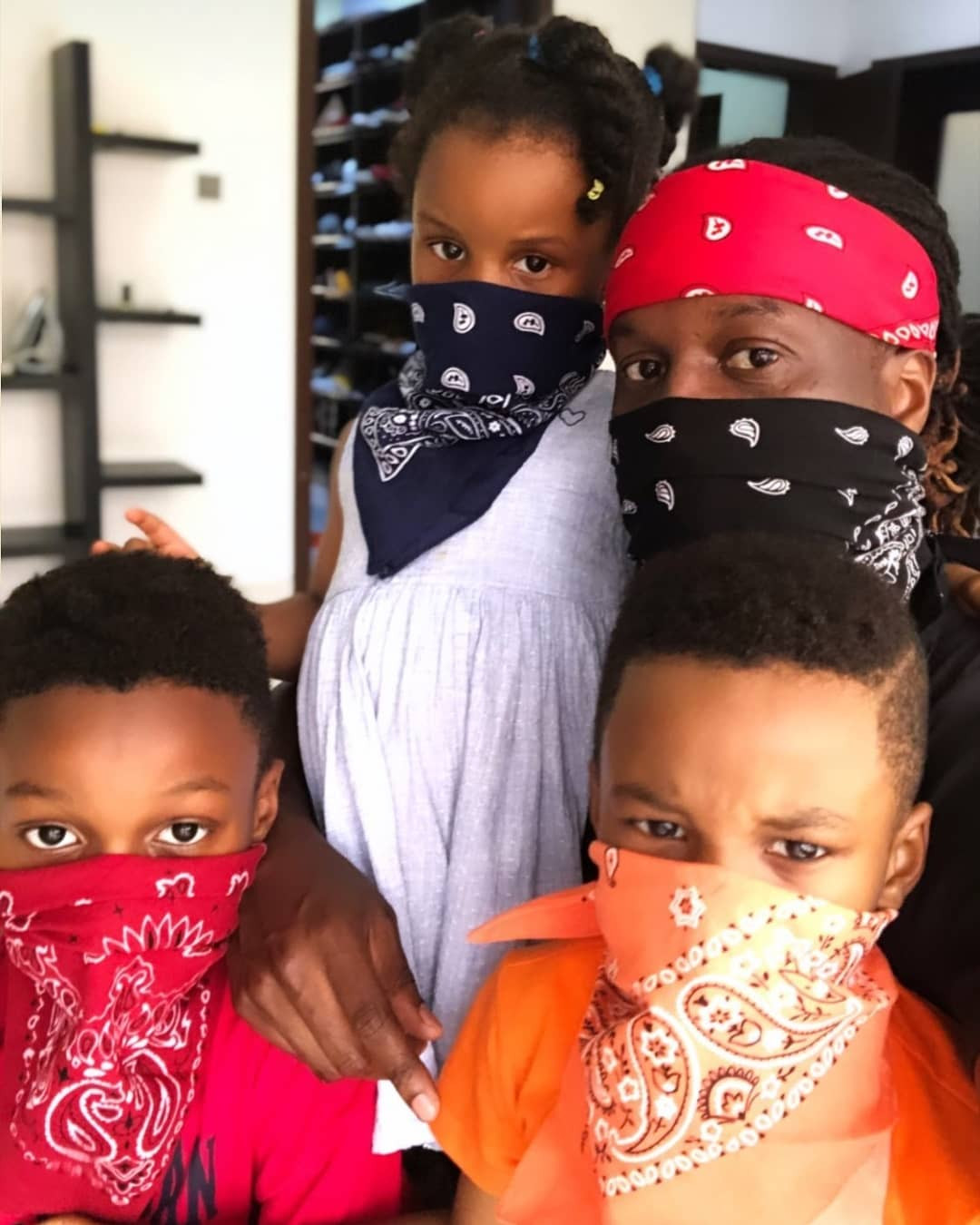 Adorable photos of Paul Okoye and his kids