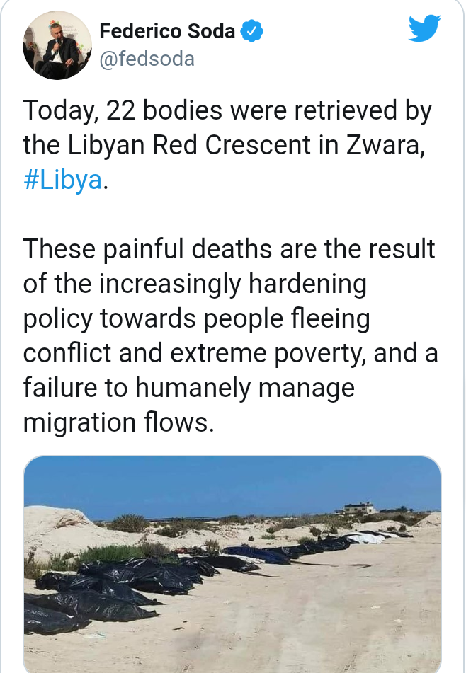 United Nations reacts after 3 Libyan men burn Nigerian migrant worker alive in Libya