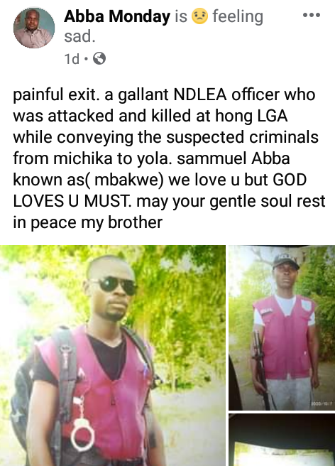 Mob beat NDLEA officer to death in Adamawa after suspected drug dealers raised false kidnap alarm
