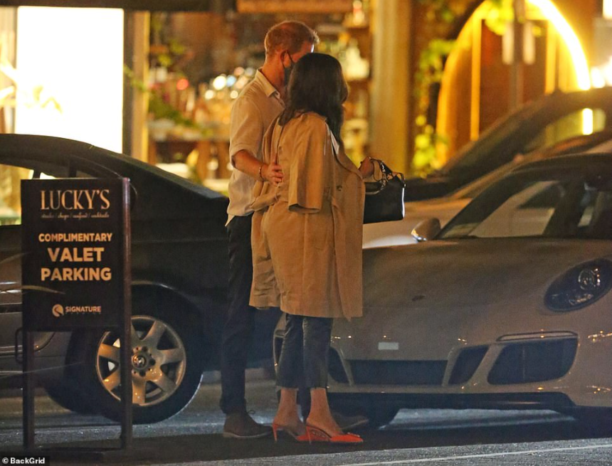 Prince Harry and Meghan Markle pictured at pricey steakhouse as they celebrate David Foster and Katharine McPhee