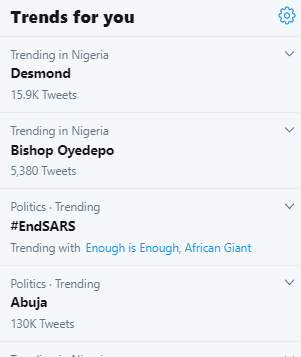 Bishop Oyedepo trends as his church member calls him out for not lending his voice to #EndSars campaign