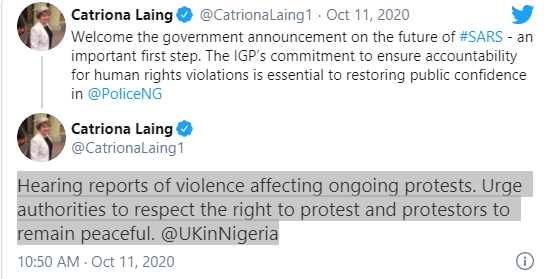 EndSARS: Respect rights of protesters - UK tells FG, #EndSARS: Respect rights of protesters – UK tells FG, Premium News24