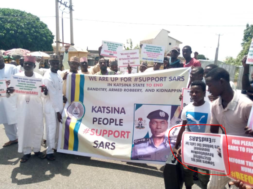 Youths in Northern states carry out rally insisting SARS must not be scrapped