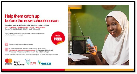 1 million disadvantaged school children to benefit from ?Learn at Home? Project by Data Science Nigeria/Malezi in partnership with the Mastercard Foundation