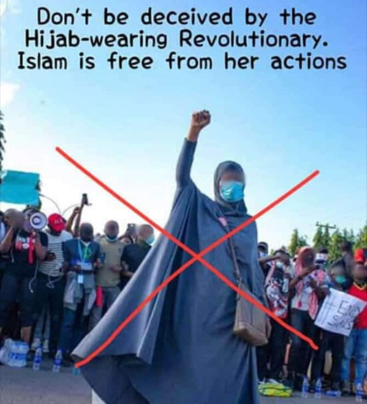 """Islam is against protests"" Muslim man condemns Aisha Yesufu for engaging in end SARS protest"