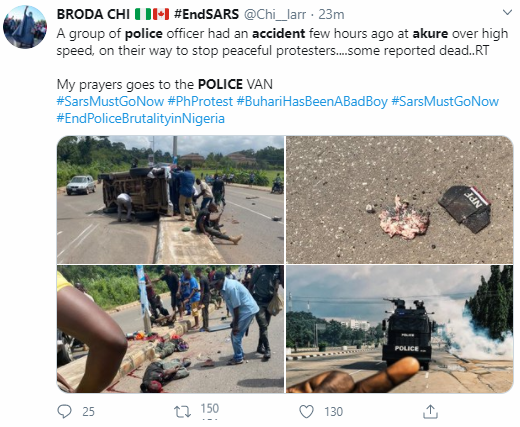At least one police officer dies, others injured in accident in Akure (graphic photos/video)