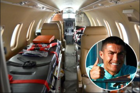 Cristiano Ronaldo flies to Italy onboard private ambulance jet after positive coronavirus test