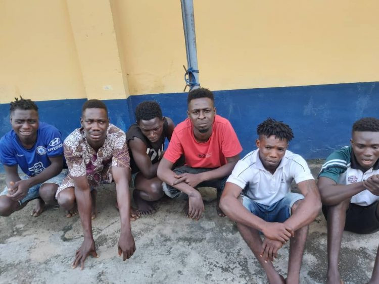 Lagos police command arrests six hoodlums over Ebutte Meta attack (photo)