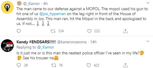 Police officer praised