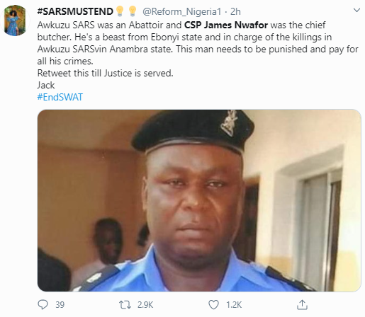 Anambra youths keep vigil at Government House Awka as they demand for sack of former SARS officer, CSP James Nwafor, accused of extrajudicial killings