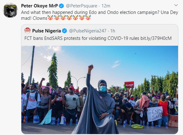 What then happened during Edo and Ondo election campaign - Peter Okoye