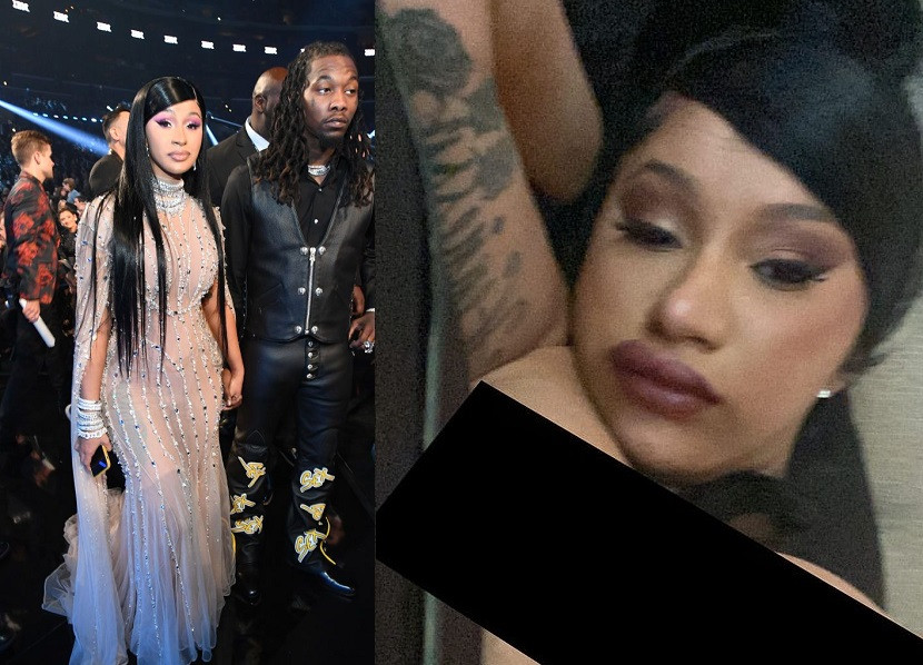 Cardi B reveals she was in bed with on-again husband Offset when she accidentally posted her topless photo online.
