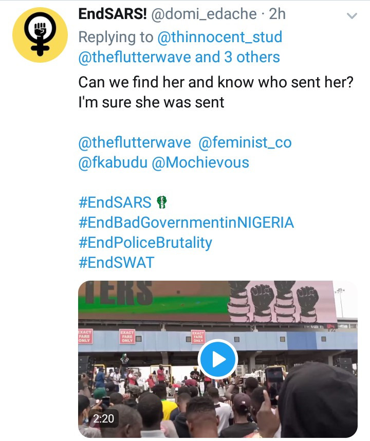 "Woman gives #EndSARS protest organizers ""24 hours"" to account for how money generated for the protest has been spent (video)"