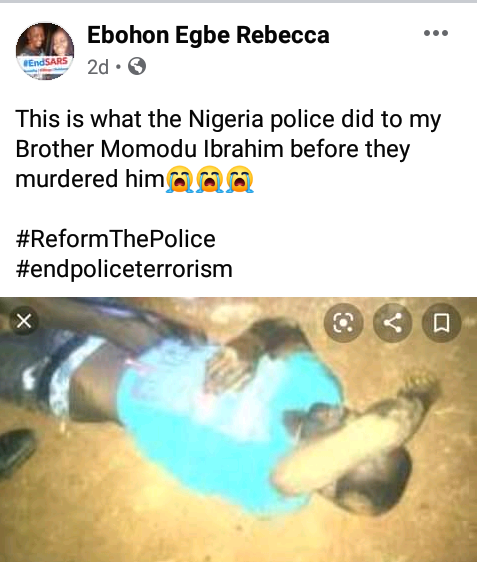 "#EndSARS: ""I reported that my son was missing not knowing he has been buried""- Lady recounts"