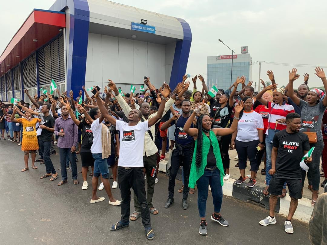 #EndSARS protesters hold prayer walk in Lagos, Abuja, Port Harcourt, others (photos/video)