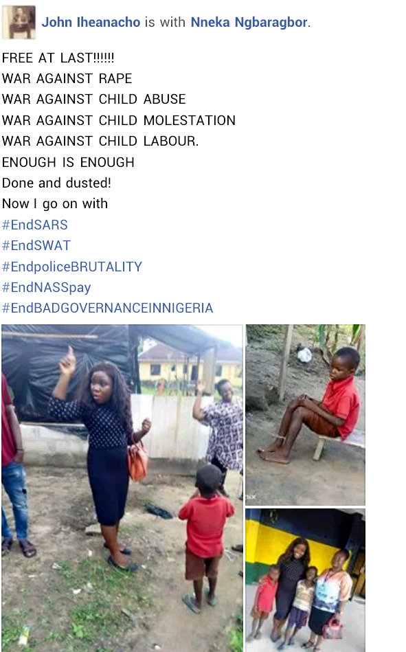 UPDATE: Rivers Police arrest couple who tortured their 10-year-old son, chained him overnight over food theft and witchcraft allegations