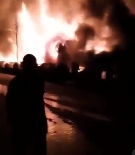 Post Office, Mall and local market allegedly burned down in Osogbo after thugs hijacked the #EndSARS protest after the killing of two protesters (videos)