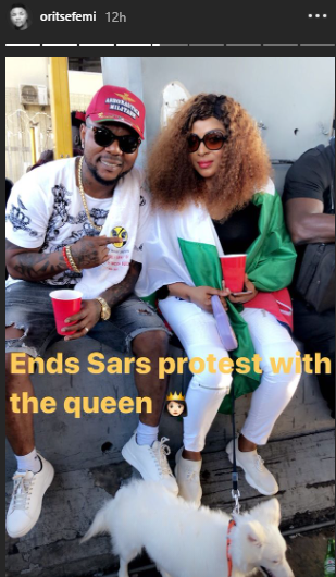 Oritsefemi and wife, Nabila, settle their marital conflict (photo)
