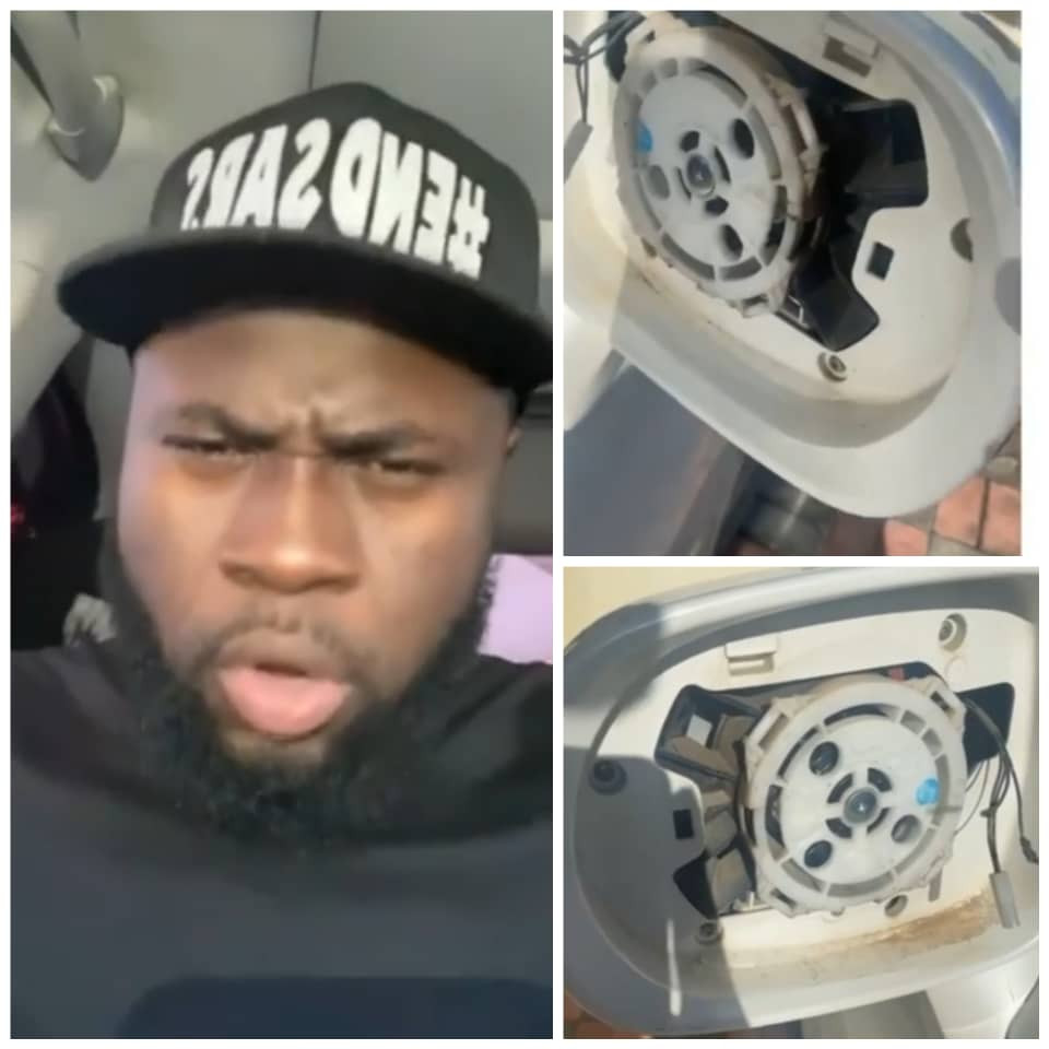 Comedian Lasisi Elenu and Wofaifada reveal their side mirrors were stolen at Lagos #EndSARS protest ground (video)