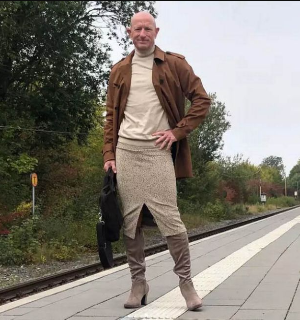 Married dad wears skirts and stiletto heels to challenge gender stereotypes