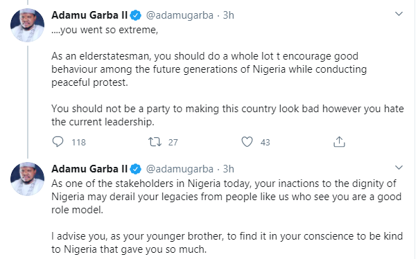 I cannot differentiate your divisive action against Nigeria and that of Nnamdi Kanu - Adamu Garba and Dele Momodu tackle each other over state of the nation