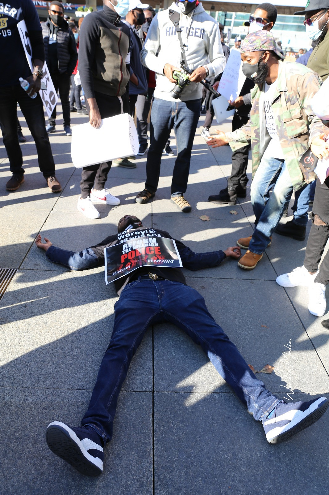Nigerians abroad stage #EndSARS in US, Europe (photos)