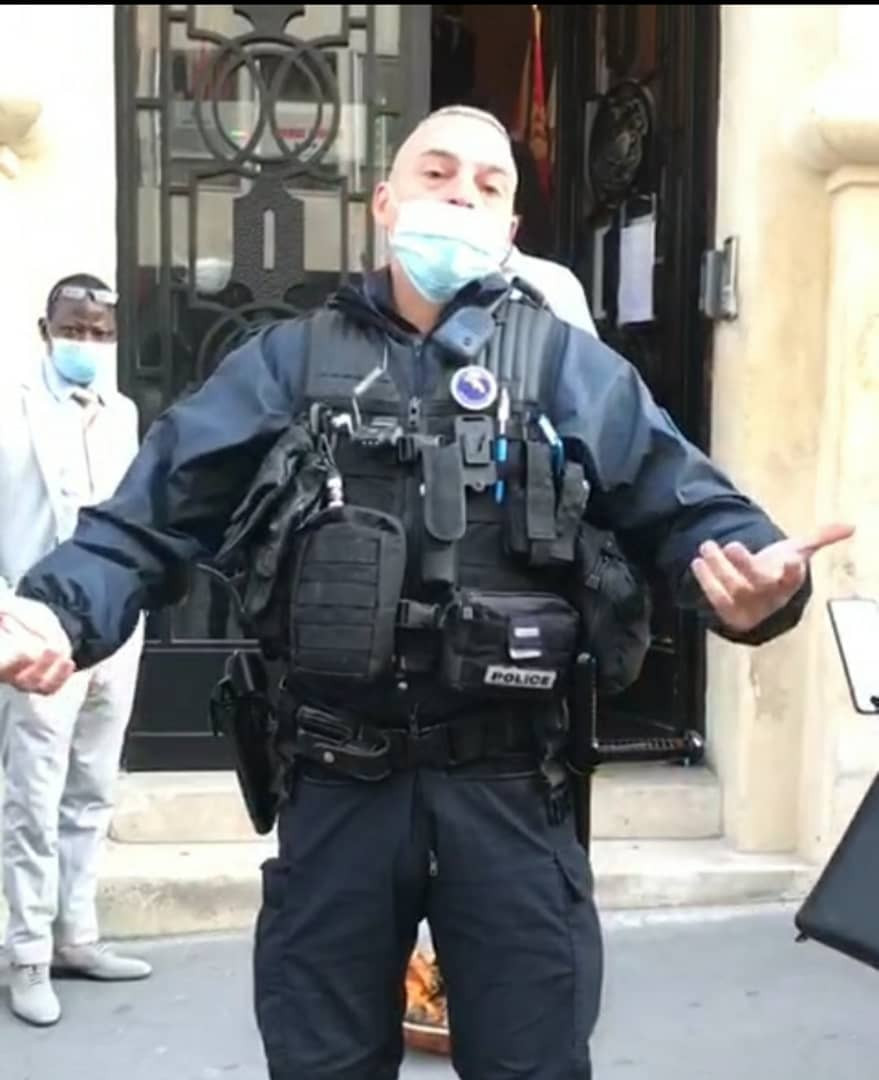 French police officers stunned after unidentified persons placed a
