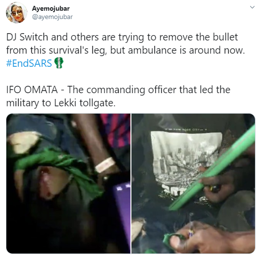 Protesters struggling to remove bullet from victim