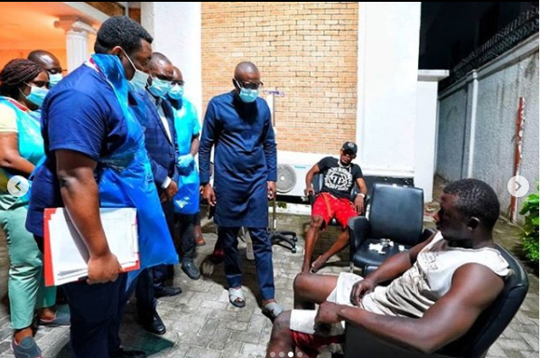 Governor Sanwo-Olu denies ordering the killing of #EndSARS protesters as he visits victims of Lekki Toll Gate Shooting