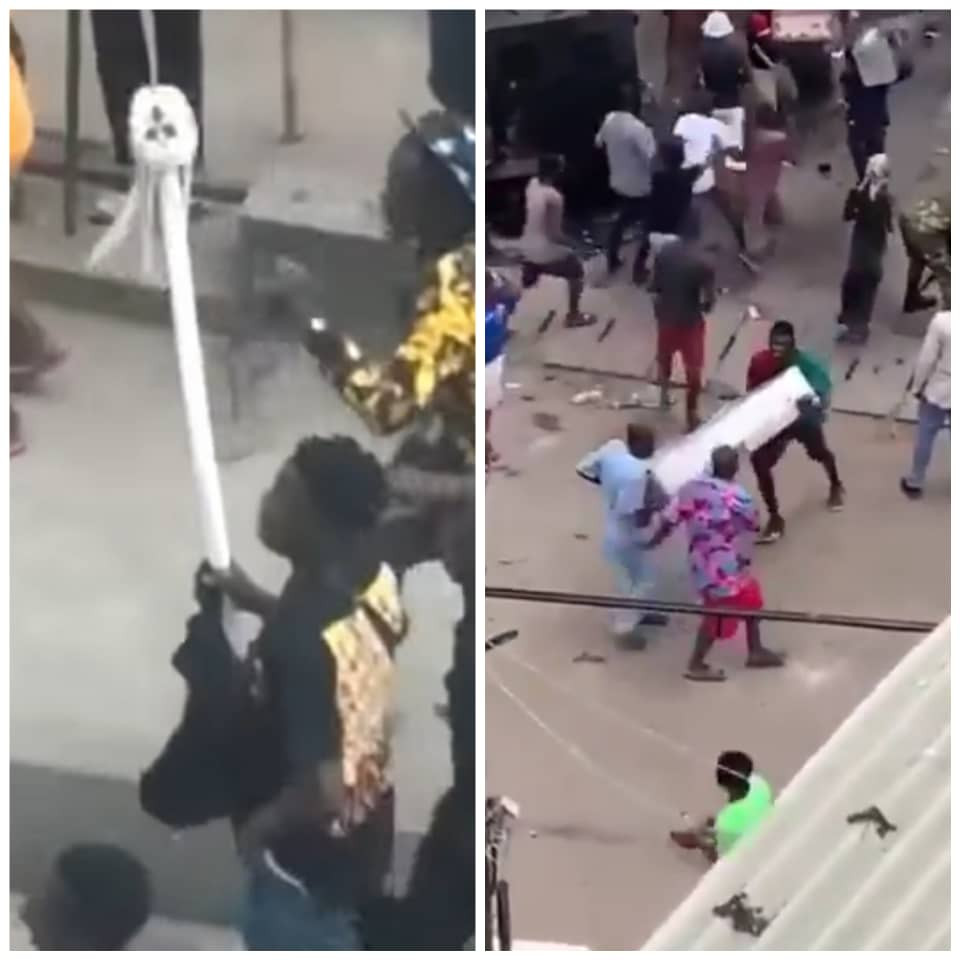 Oba of Lagos Palace  attacked and looted (videos)