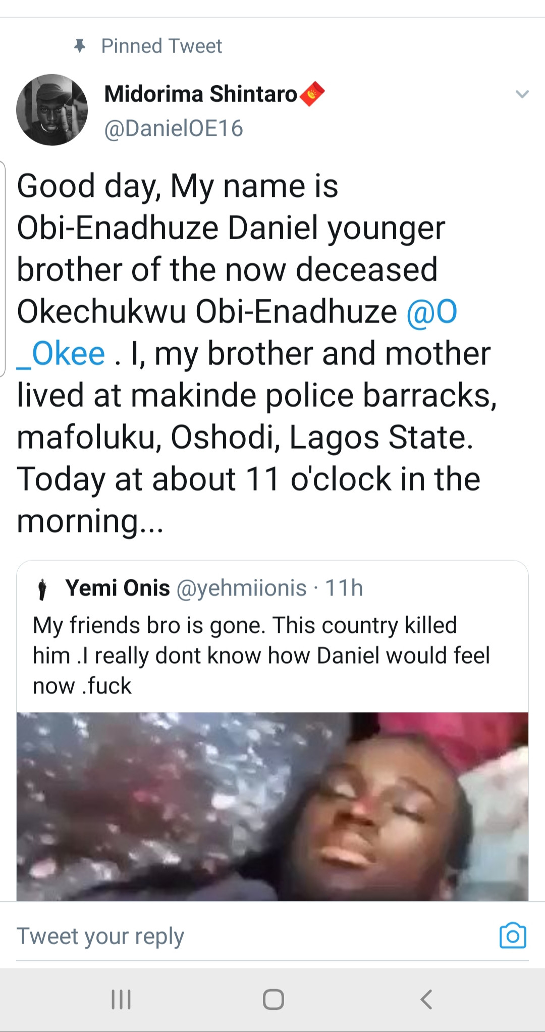 Oke wasn?t killed by stray bullet but stabbed by thugs ? Man claiming to be Oke