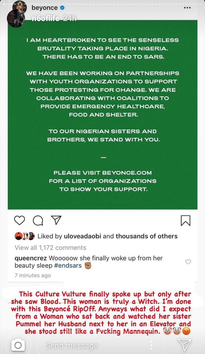 N6 calls Beyonce a
