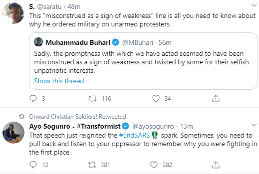 Nigerians react to Buhari
