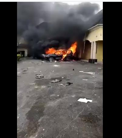 Senator Udoma Egba's house looted and set on fire by a mob lindaikejisblog
